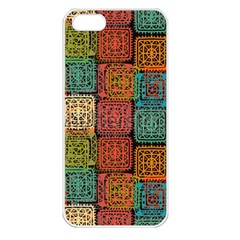 Stract Decorative Ethnic Seamless Pattern Aztec Ornament Tribal Art Lace Folk Geometric Background C Apple Iphone 5 Seamless Case (white) by BangZart