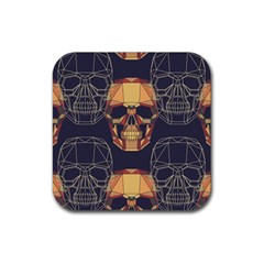 Skull Pattern Rubber Coaster (square)  by BangZart