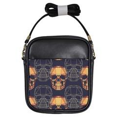 Skull Pattern Girls Sling Bags by BangZart