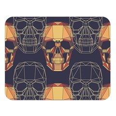 Skull Pattern Double Sided Flano Blanket (large)  by BangZart