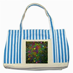 Starbursts Biploar Spring Colors Nature Striped Blue Tote Bag by BangZart