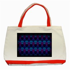 Skull Pattern Wallpaper Classic Tote Bag (red) by BangZart