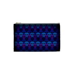Skull Pattern Wallpaper Cosmetic Bag (small)  by BangZart