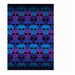 Skull Pattern Wallpaper Large Garden Flag (two Sides) by BangZart