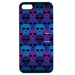 Skull Pattern Wallpaper Apple Iphone 5 Hardshell Case With Stand by BangZart