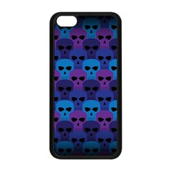 Skull Pattern Wallpaper Apple Iphone 5c Seamless Case (black) by BangZart
