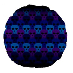 Skull Pattern Wallpaper Large 18  Premium Flano Round Cushions by BangZart