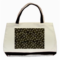 Skull Halloween Background Texture Basic Tote Bag by BangZart