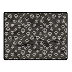 Skull Halloween Background Texture Fleece Blanket (small) by BangZart