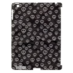 Skull Halloween Background Texture Apple Ipad 3/4 Hardshell Case (compatible With Smart Cover) by BangZart