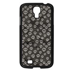 Skull Halloween Background Texture Samsung Galaxy S4 I9500/ I9505 Case (black) by BangZart