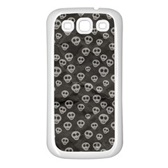 Skull Halloween Background Texture Samsung Galaxy S3 Back Case (white) by BangZart