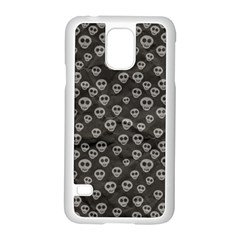 Skull Halloween Background Texture Samsung Galaxy S5 Case (white) by BangZart