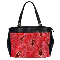 Red Peacock Floral Embroidered Long Qipao Traditional Chinese Cheongsam Mandarin Office Handbags (2 Sides)  by BangZart