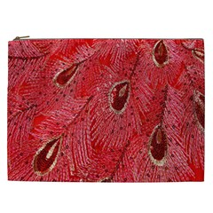 Red Peacock Floral Embroidered Long Qipao Traditional Chinese Cheongsam Mandarin Cosmetic Bag (xxl)  by BangZart