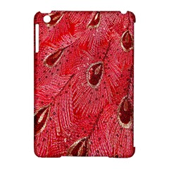 Red Peacock Floral Embroidered Long Qipao Traditional Chinese Cheongsam Mandarin Apple Ipad Mini Hardshell Case (compatible With Smart Cover) by BangZart