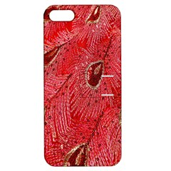 Red Peacock Floral Embroidered Long Qipao Traditional Chinese Cheongsam Mandarin Apple Iphone 5 Hardshell Case With Stand by BangZart