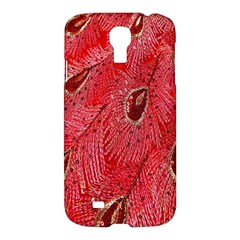 Red Peacock Floral Embroidered Long Qipao Traditional Chinese Cheongsam Mandarin Samsung Galaxy S4 I9500/i9505 Hardshell Case by BangZart