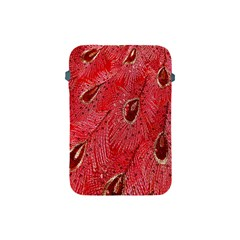 Red Peacock Floral Embroidered Long Qipao Traditional Chinese Cheongsam Mandarin Apple Ipad Mini Protective Soft Cases by BangZart