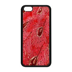 Red Peacock Floral Embroidered Long Qipao Traditional Chinese Cheongsam Mandarin Apple Iphone 5c Seamless Case (black) by BangZart