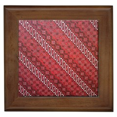 Red Batik Background Vector Framed Tiles by BangZart