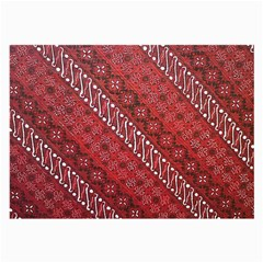 Red Batik Background Vector Large Glasses Cloth (2 Side) by BangZart