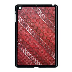 Red Batik Background Vector Apple Ipad Mini Case (black)