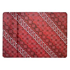 Red Batik Background Vector Samsung Galaxy Tab 10 1  P7500 Flip Case by BangZart