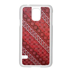 Red Batik Background Vector Samsung Galaxy S5 Case (white) by BangZart