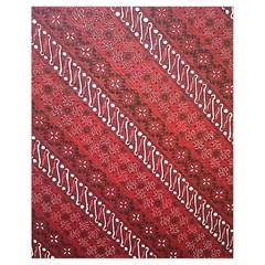 Red Batik Background Vector Drawstring Bag (small) by BangZart