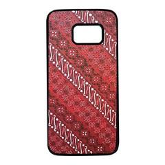 Red Batik Background Vector Samsung Galaxy S7 Black Seamless Case