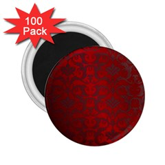 Red Dark Vintage Pattern 2 25  Magnets (100 Pack)  by BangZart