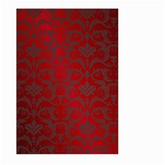 Red Dark Vintage Pattern Large Garden Flag (two Sides) by BangZart