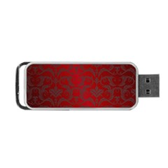 Red Dark Vintage Pattern Portable Usb Flash (two Sides) by BangZart