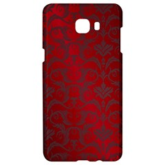 Red Dark Vintage Pattern Samsung C9 Pro Hardshell Case  by BangZart