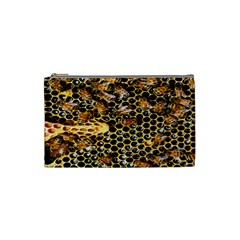 Queen Cup Honeycomb Honey Bee Cosmetic Bag (small)  by BangZart