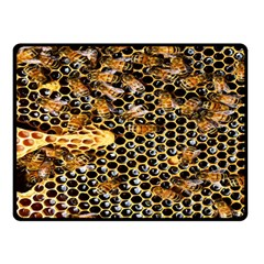 Queen Cup Honeycomb Honey Bee Double Sided Fleece Blanket (small)  by BangZart