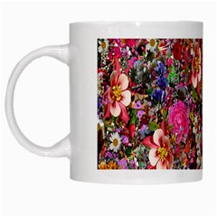 Psychedelic Flower White Mugs by BangZart