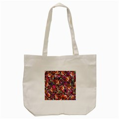 Psychedelic Flower Tote Bag (cream) by BangZart