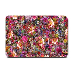 Psychedelic Flower Small Doormat  by BangZart