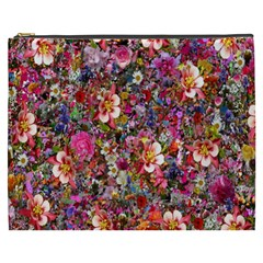 Psychedelic Flower Cosmetic Bag (xxxl)  by BangZart