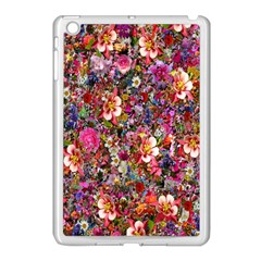 Psychedelic Flower Apple Ipad Mini Case (white) by BangZart