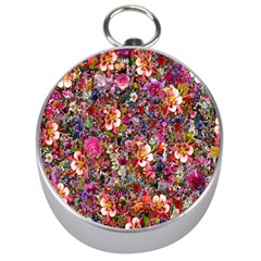 Psychedelic Flower Silver Compasses by BangZart