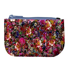 Psychedelic Flower Large Coin Purse by BangZart