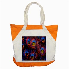 Pretty Peacock Feather Accent Tote Bag by BangZart