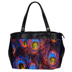 Pretty Peacock Feather Office Handbags (2 Sides)  by BangZart