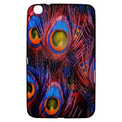 Pretty Peacock Feather Samsung Galaxy Tab 3 (8 ) T3100 Hardshell Case  by BangZart