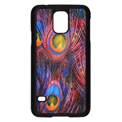 Pretty Peacock Feather Samsung Galaxy S5 Case (black) by BangZart