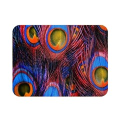 Pretty Peacock Feather Double Sided Flano Blanket (mini)  by BangZart