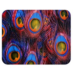 Pretty Peacock Feather Double Sided Flano Blanket (medium)  by BangZart